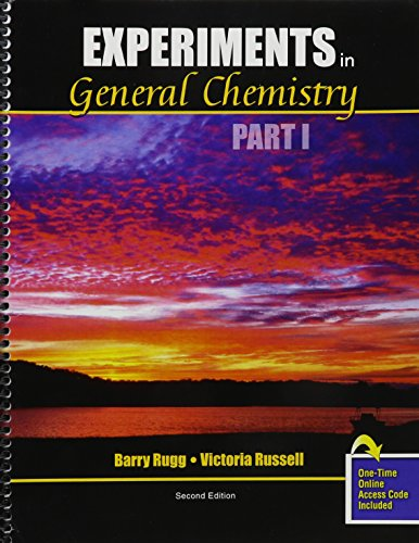 9781465229243: Experiments in General Chemistry Part I