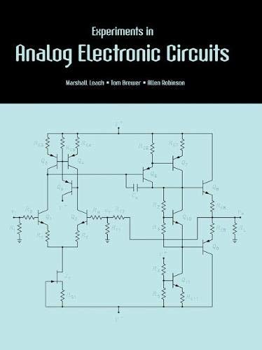 9781465232410: Experiments in Analog Electronic Circuits