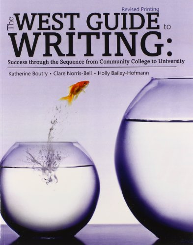 9781465240156: The West Guide to Writing: Success from Community College to University
