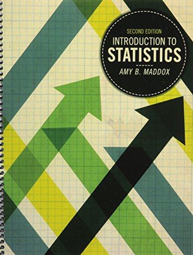 Introduction to Statistics: MADDOX AMY
