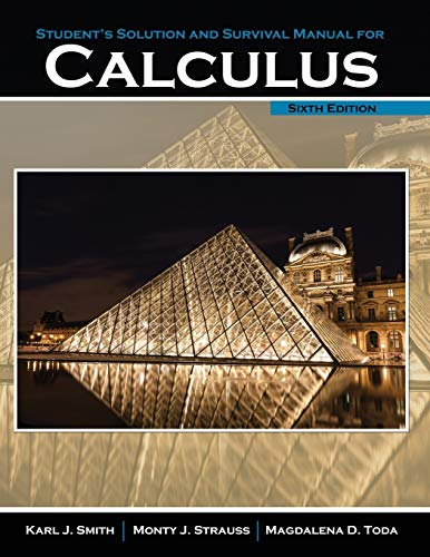 9781465241658: Student's Solution Manual and Survival Manual for Calculus