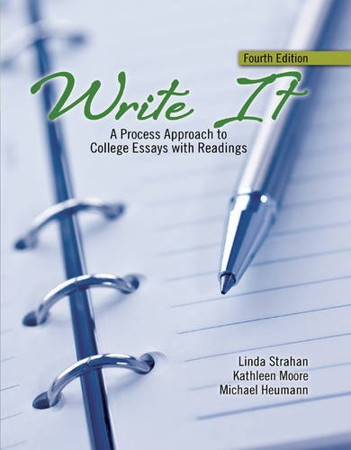 9781465243942: Write It: A Process Approach to College Essays with Readings