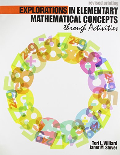 9781465251190: Explorations in Elementary Mathematical Concepts through Activities