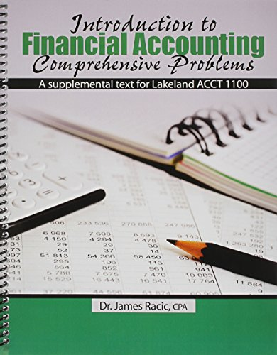 9781465254665: Introduction to Financial Accounting Comprehensive Problems