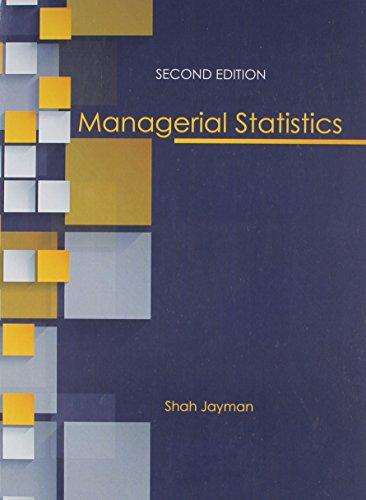 9781465257031: Managerial Statistics