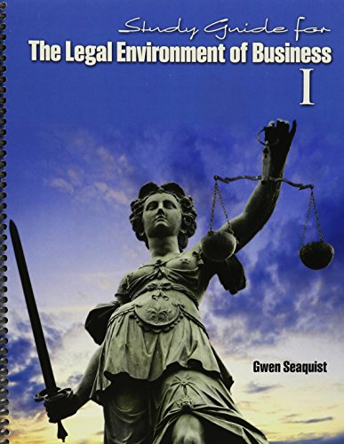 9781465264770: Study Guide for The Legal Environment of Business I