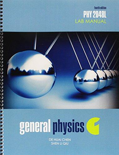 9781465268518: General Physics 1: PHY2048L Lab Manual