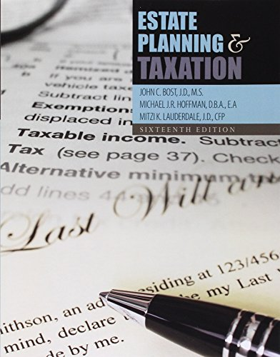 9781465270580: Estate Planning and Taxation