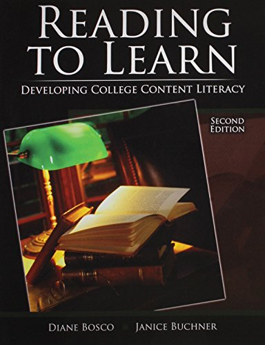 Reading to Learn: Developing College Content Literacy