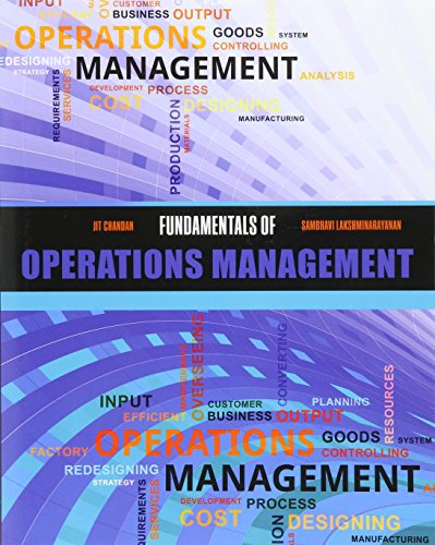 Fundamentals of Operations Management: Jit Chandan, Sambhavi