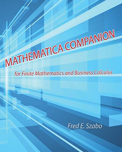 9781465282323: Mathematica Companion for Finite Mathematics and Business Calculus
