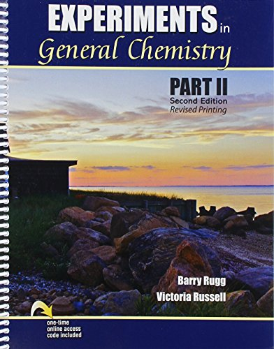 9781465292155: Experiments in General Chemistry Part II