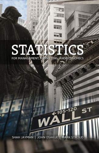 Statistics for Management Marketing and Economics (Paperback): Shah Jayman, John