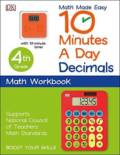 10 Minutes a Day: Decimals, Fourth Grade: DK Publishing