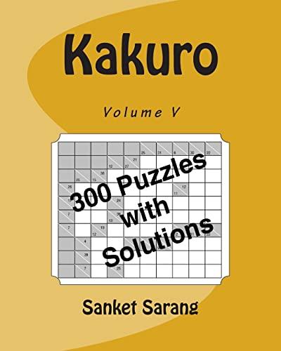 9781466213166: Kakuro Vol V