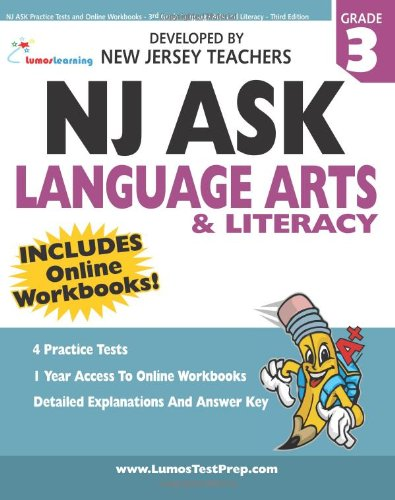 9781466251151: NJ ASK Practice Tests and Online Workbooks - 3rd Grade Language Arts and Literacy - Third Edition: Developed by Expert Teachers