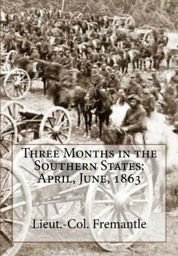 9781466292871: Three Months in the Southern States: April, June, 1863