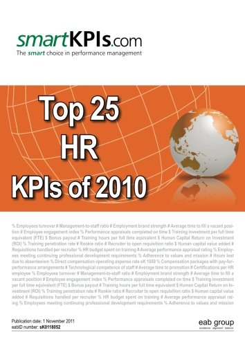 9781466332072: Top 25 HR KPIs of 2010