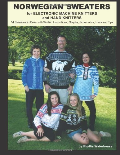9781466374157: Norwegian Sweaters: for Electronic Machine Knitters and Hand Knitters (Black & White Edition)