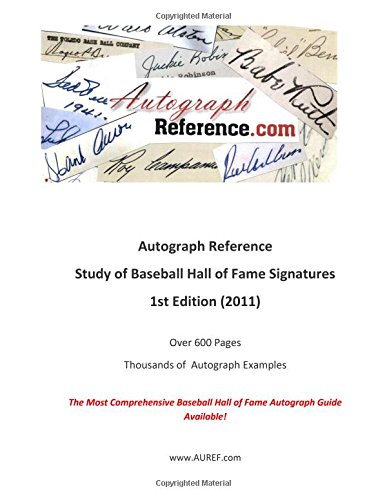 9781466436039: Autograph Reference.com Study of Baseball Hall of Fame Signatures