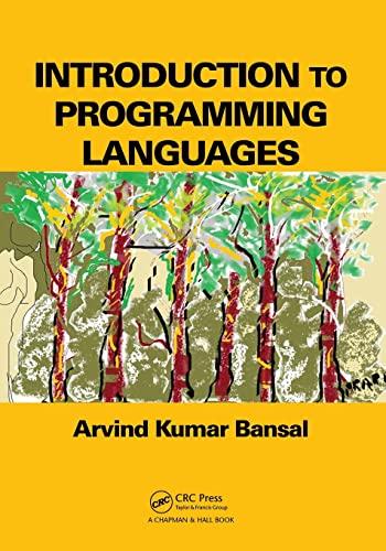 Introduction to Programming Languages: Bansal, Arvind Kumar