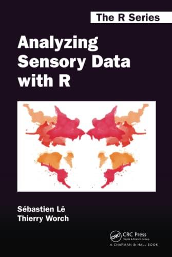 Analyzing Sensory Data with R (Chapman &: Le, Sebastien; Worch,