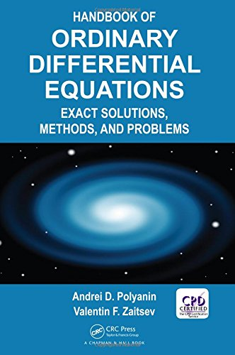 9781466569379: Handbook of Ordinary Differential Equations: Exact Solutions, Methods, and Problems