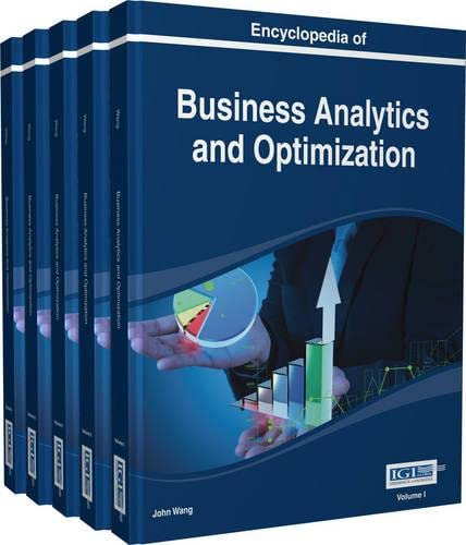 9781466652026: Encyclopedia of Business Analytics and Optimization