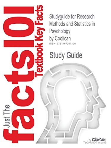 9781467267120: Studyguide for Research Methods and Statistics in Psychology by Coolican, ISBN 9780340983447