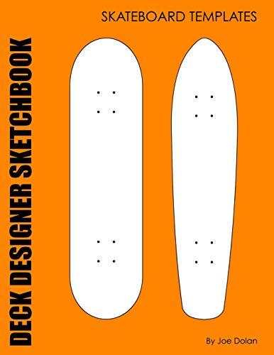 9781468018844: Deck Designer Sketchbook: Skateboard Templates: 96 Comp and Old School Skateboard Deck Templates: 1