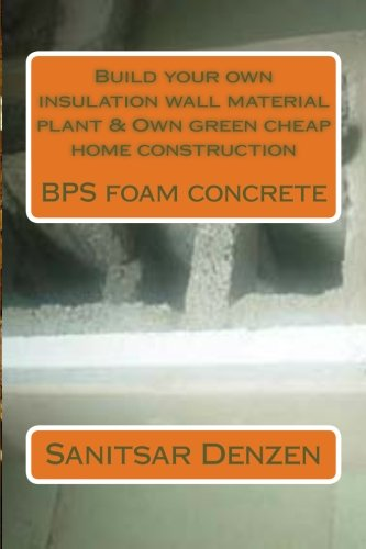 Build your own insulation wall material plant: 1 Sanitsar Ishtseren