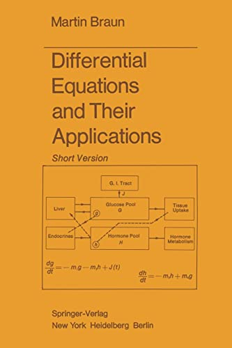 9781468400557: Differential Equations and Their Applications: Short Version