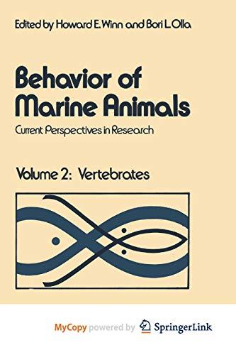 9781468409116: Behavior of Marine Animals: Current Perspectives in Research Volume 2: Vertebrates