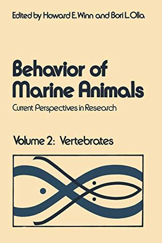 9781468409123: Behavior of Marine Animals: Current Perspectives in Research Volume 2: Vertebrates
