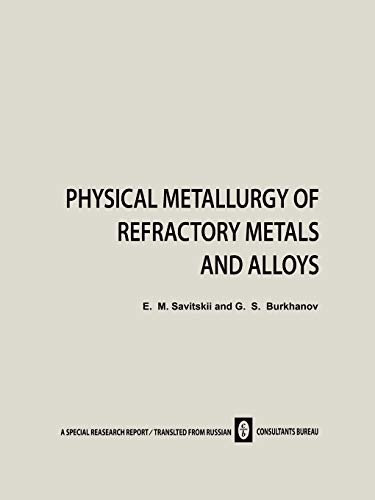 9781468415742: Physical Metallurgy of Refractory Metals and Alloys