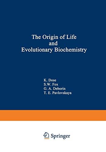 9781468421170: The Origin of Life and Evolutionary Biochemistry