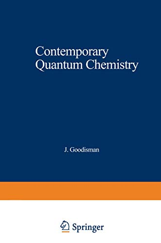 9781468422702: Contemporary Quantum Chemistry: An Introduction