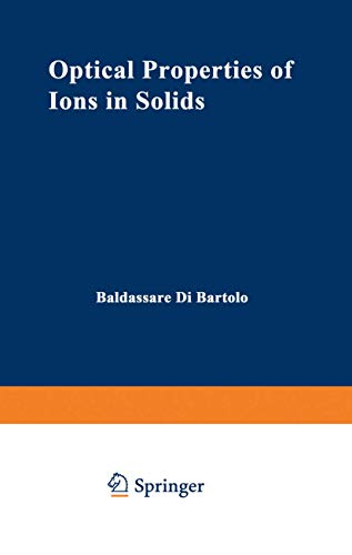 9781468427899: Optical Properties of Ions in Solids
