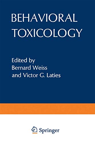 9781468428612: Behavioral Toxicology (Environmental Science Research)