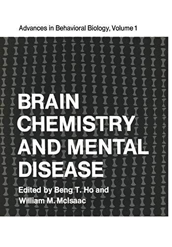 Brain Chemistry and Mental Disease: Proceedings of a Symposium on Brain Chemistry and Mental ...