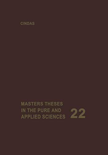 9781468433838: Masters Theses in the Pure and Applied Sciences: Accepted by Colleges and Universities of the United States and Canada (Volume 22)