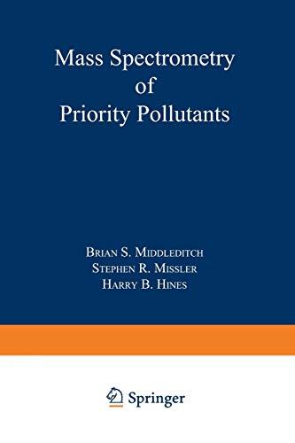 9781468437904: Mass Spectrometry of Priority Pollutants