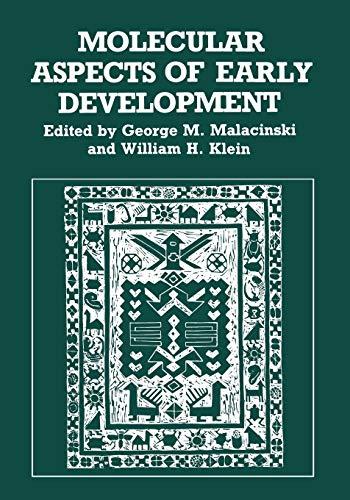 Molecular Aspects of Early Development