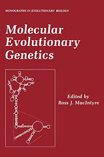 9781468449907: Molecular Evolutionary Genetics (Monographs in Evolutionary Biology)