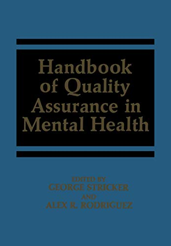 9781468452389: Handbook of Quality Assurance in Mental Health