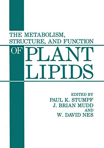 The Metabolism, Structure, and Function of Plant: Paul Karl Stumpf,