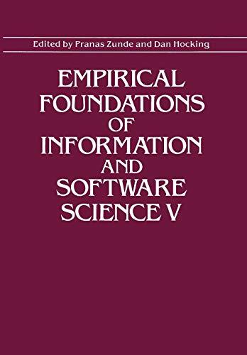 Empirical Foundations of Information and Software Science V: PRANAS ZUNDE