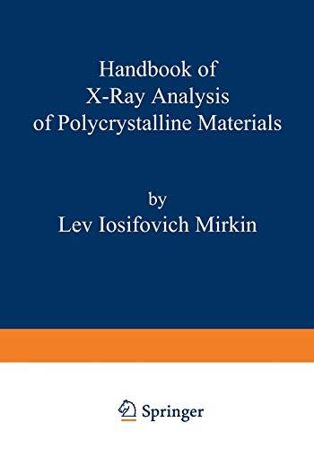 9781468460629: Handbook of X-Ray Analysis of Polycrystalline Materials