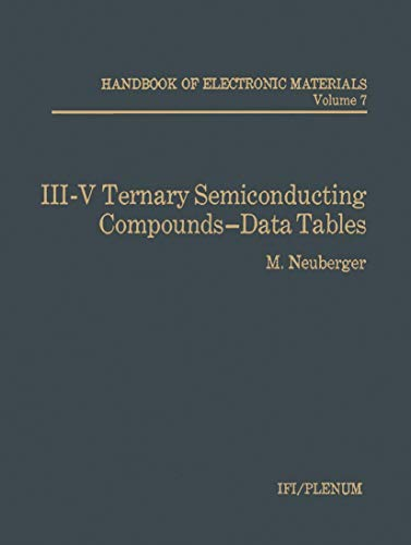 III-V Ternary Semiconducting Compounds-Data Tables: M. Neuberger