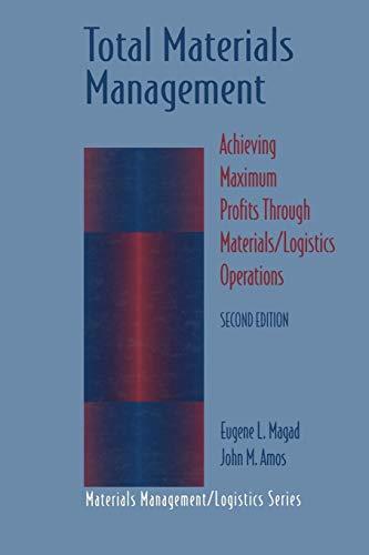 Total Materials Management Achieving Maximum Profits Through MaterialsLogistics Operations ...